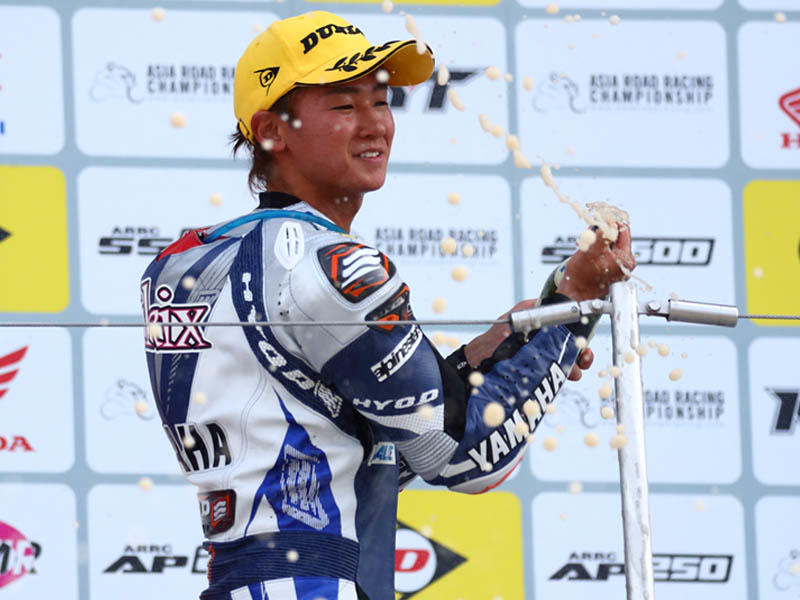 SS600:レース2で今シーズン初の3位表彰台を獲得した#76 Yuki Ito(YAMAHA RACING TEAM)