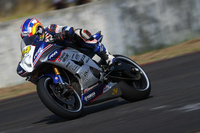 SS600:レース1で5位入賞を果たしたYamaha Thailand Racing Teamの#24 Decha Kraisart(YZF-R6)
