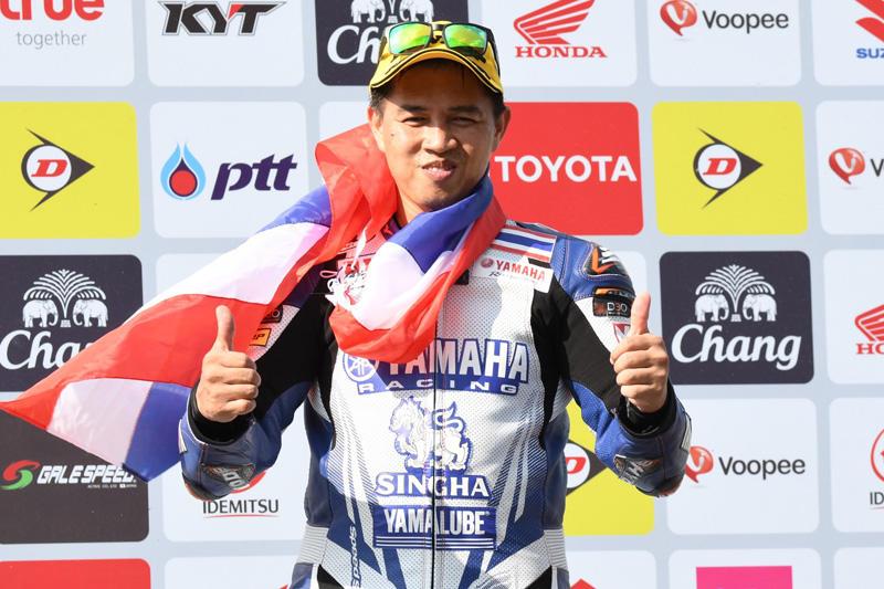 SS600 レース1:トップ争いの末、今季初の2位表彰台を獲得した#24 Decha Kraisart  (Yamaha Thailand Racing Team)