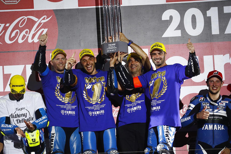 最終戦鈴鹿8耐は11位とし、EWCのチャンピオンに輝いたGMT94 Yamaha Official EWC Team