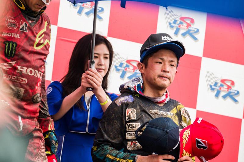 IA1:第1ヒートで3位表彰台を獲得するも悔しさをにじませる#99平田優(YZ450FM)