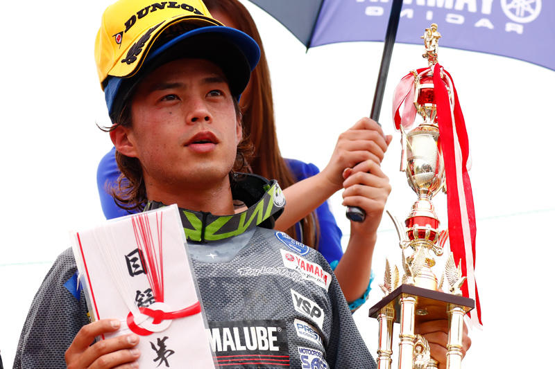 IA1:ヒート2で3位を獲得、IA1で初となる表彰台に立った#31岡野聖(YZ450F)