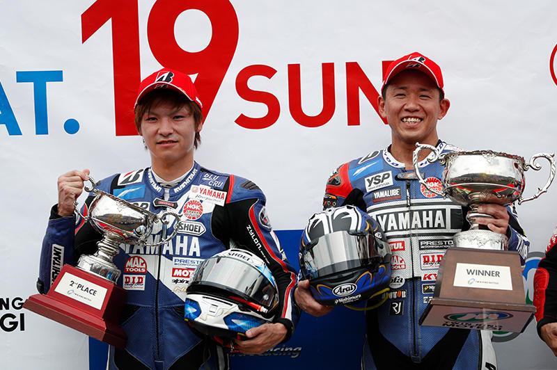YAMAHA FACTORY RACING TEAMの中須賀克行&野左根航汰が今季2度目の1-2フィニッシュ!!