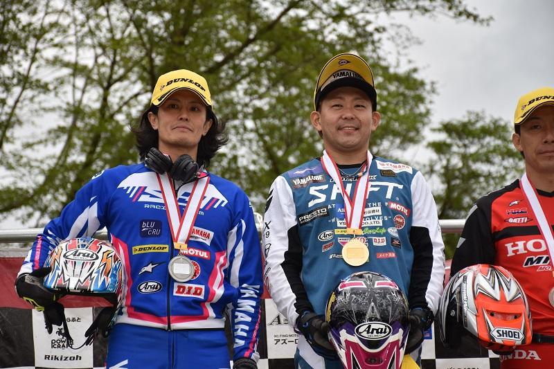 #2 野崎史高が優勝、#3 黒山健一が2位獲得