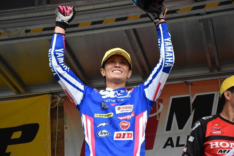 #3 黒山健一が今季2勝目を獲得