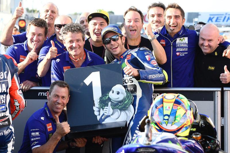 通算64回目、日本GPでは2009年以来となるポールポジションを獲得した#46 V・ロッシ&YZR-M1