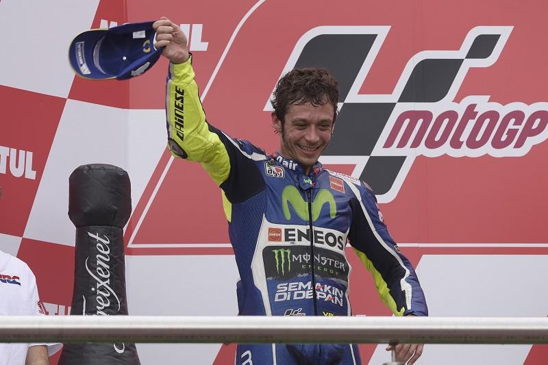2位表彰台を獲得したMovistar Yamaha MotoGPのV・ロッシ