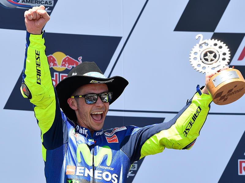 開幕以来、3戦連続で表彰台を獲得したMovistar Yamaha MotoGPのV・ロッシ