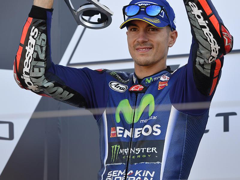 2位表彰台を獲得したMovistar Yamaha MotoGPのM・ビニャーレス