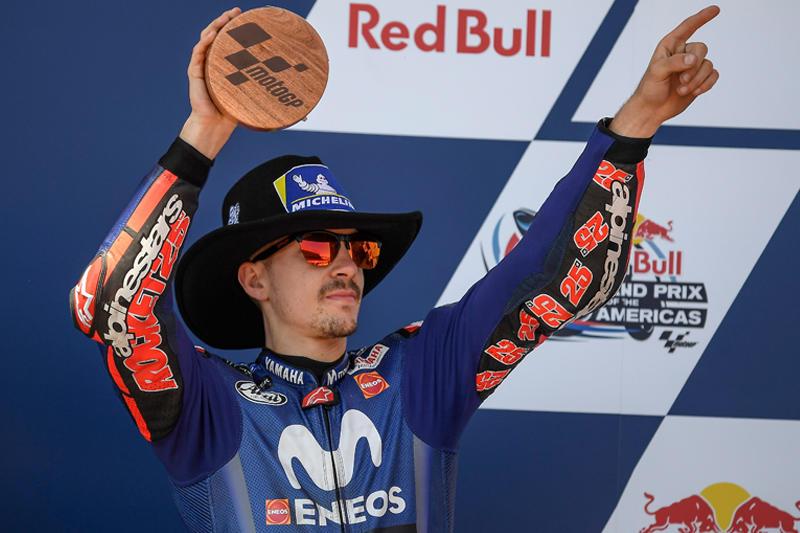 2位表彰台を獲得したMovistar Yamaha MotoGPM・ビニャーレス
