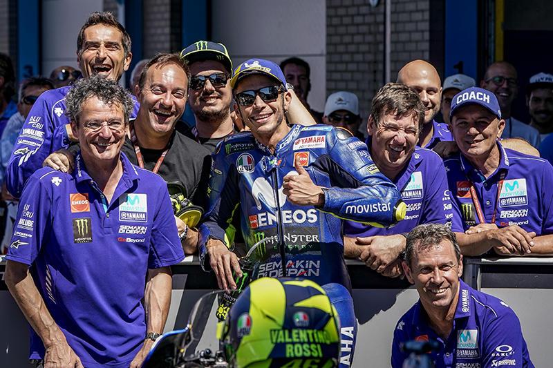予選3番手フロントローのMovistar Yamaha MotoGPのV・ロッシ