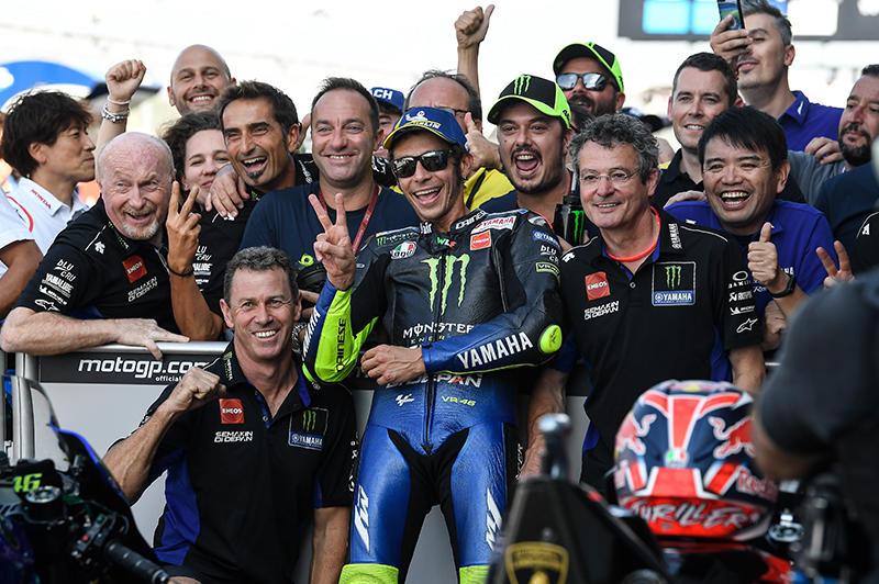 トップに0.428秒差の2番手でフロントローを獲得したMonster Energy Yamaha MotoGPの#46 V・ロッシ