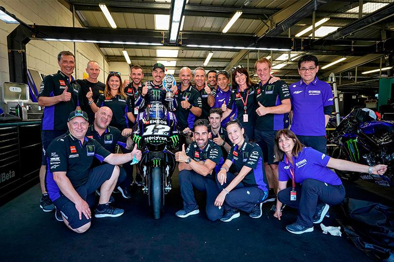 Monster Energy Yamaha MotoGPの#12 M・ビニャーレスは3位表彰台を獲得