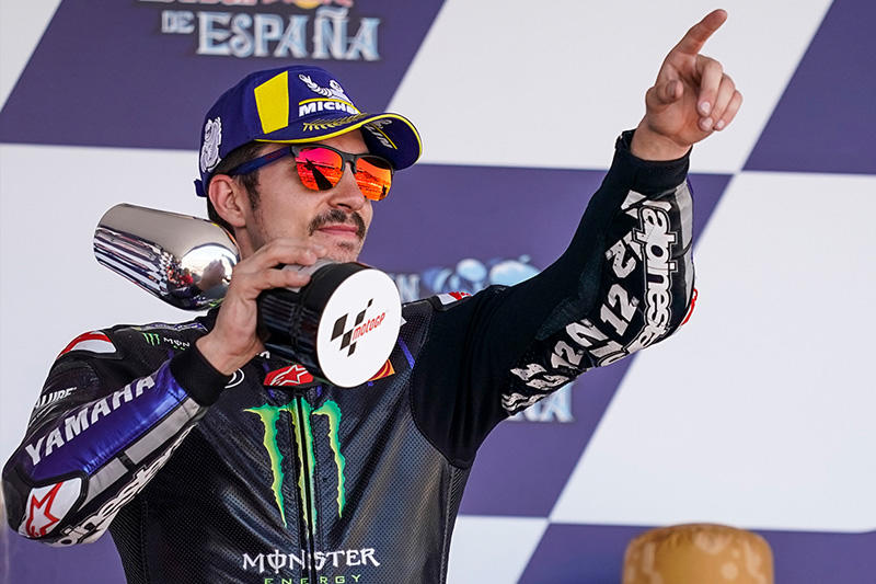今季初表彰台となる3位を獲得した#12 M・ビニャーレス&YZR-M1