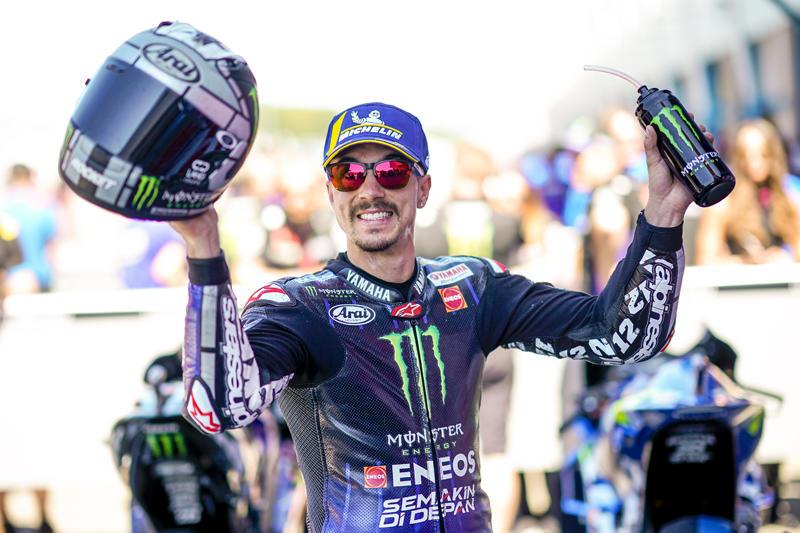 予選2番手のMonster Energy Yamaha MotoGP M・ビニャーレス