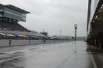 予選を迎える鈴鹿サーキットは雨模様