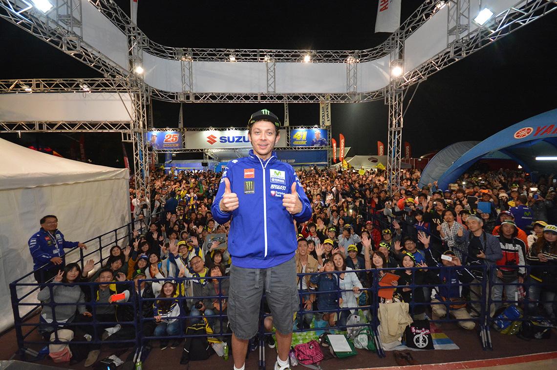 GPライダートークショーを開催ヤマハファンブース、連日多くのファンで大盛況