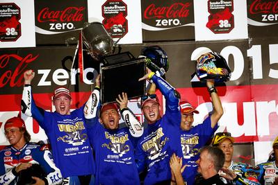 鈴鹿8耐 決勝 YAMAHA FACTORY RACING TEAMが鈴鹿8耐を制覇 1996年以来、ヤマハ通算5回目の優勝