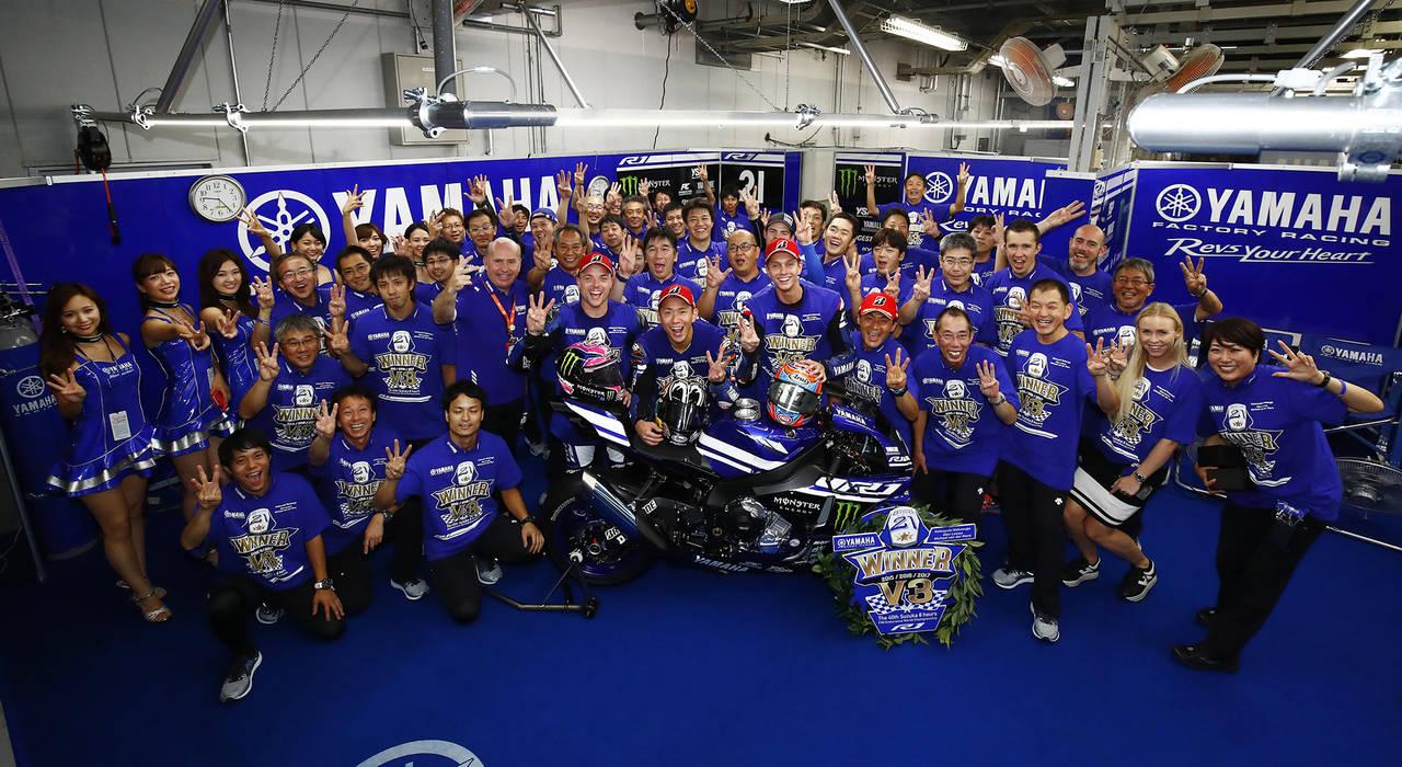 ヤマハ初となる鈴鹿8耐3連覇、通算7回目となる優勝を獲得