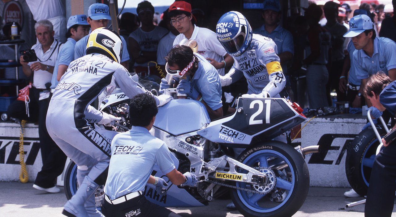 Sorrow Again for the TECH21 Team with Another DNF in 1986