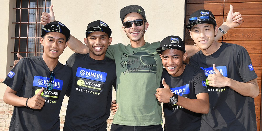 Students Meet Valentino Rossi as the Sixth Yamaha VR46 Master Camp Comes To A Close