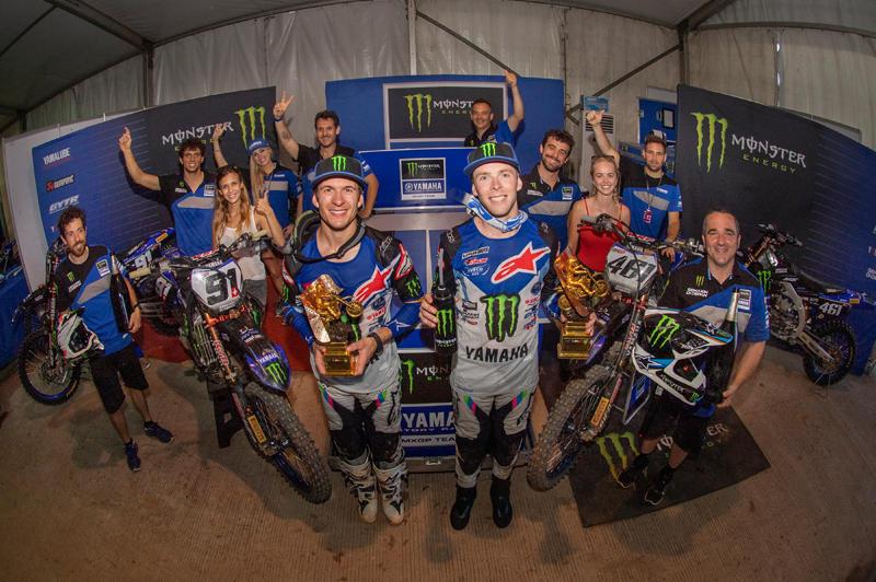 Monster Energy Yamaha Factory MXGPのデュオ、フェーブルとシ―ワ―が2位と3位に入り、ヤマハは5戦連続のダブル表彰台を果たした