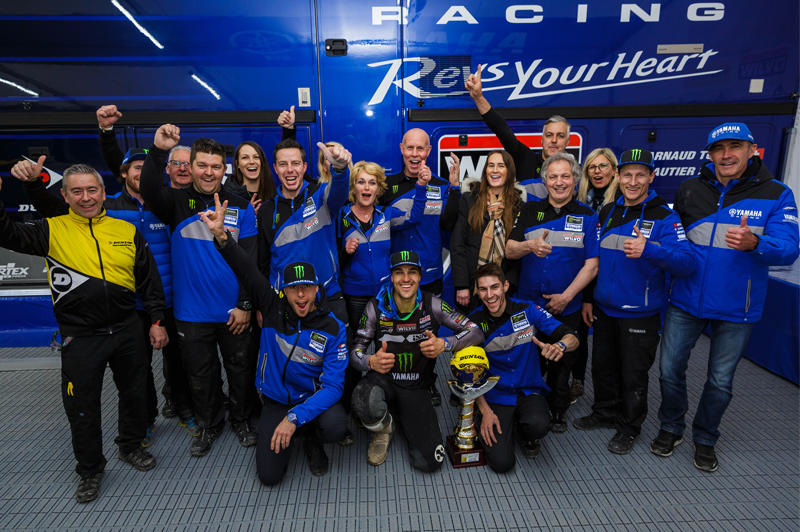 Monster Energy Wilvo Yamaha MXGP がベストリザルト。ゴーティエ・ポーリンが総合3位に入り今シーズン2度目となる表彰台に立ち、アーヌー・トヌスが総合4位でフィニッシュ