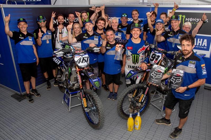 Monster Energy Yamaha Factory MXGPのデュオ、フェーブルとシ―ワ―が1位と3位に入りダブルポディウムフィニッシュ。フェーブルの優勝は2016年フランスGP以来3年振り