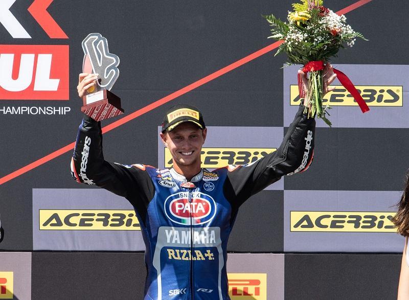 Pata Yamaha Teamの#60 M・ファン・デル・マーク(YZF-R1)がレース1で3位表彰台を獲得