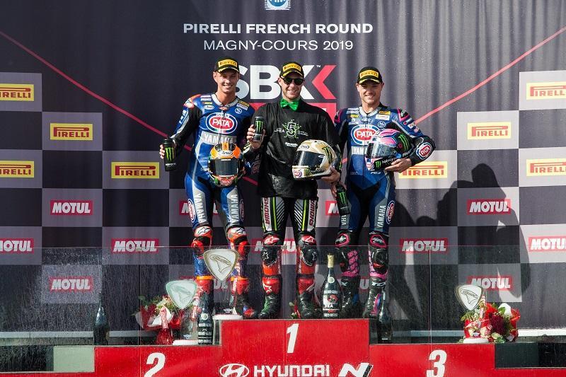 Pata Yamaha Teamの#60 M・ファン・デル・マークと#22 A・ローズがレース2で2位と3位を獲得