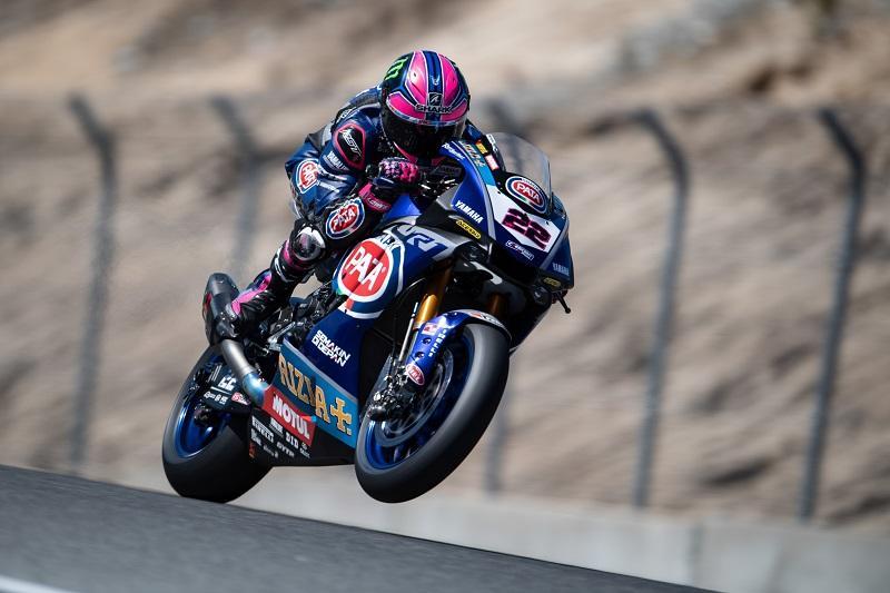 Pata Yamaha Teamの#22 A・ローズ(YZF-R1)がレース1で5位、レース2で4位獲得